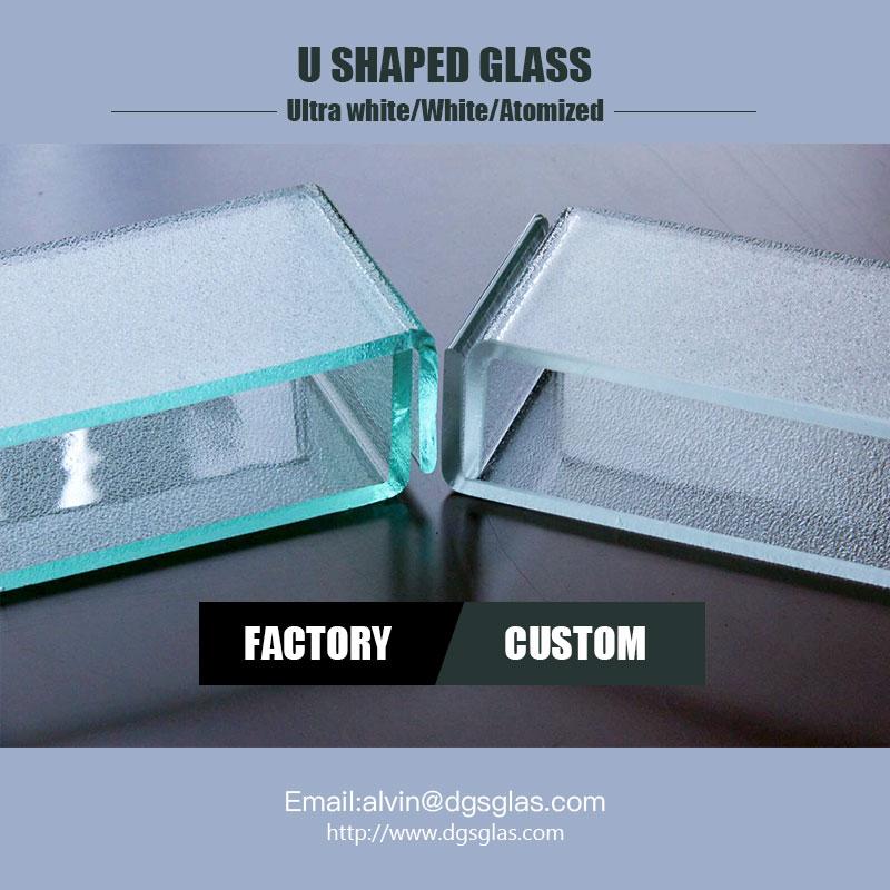 ușoare noi building material l translucide u în formă de canalul profil pahar de preț