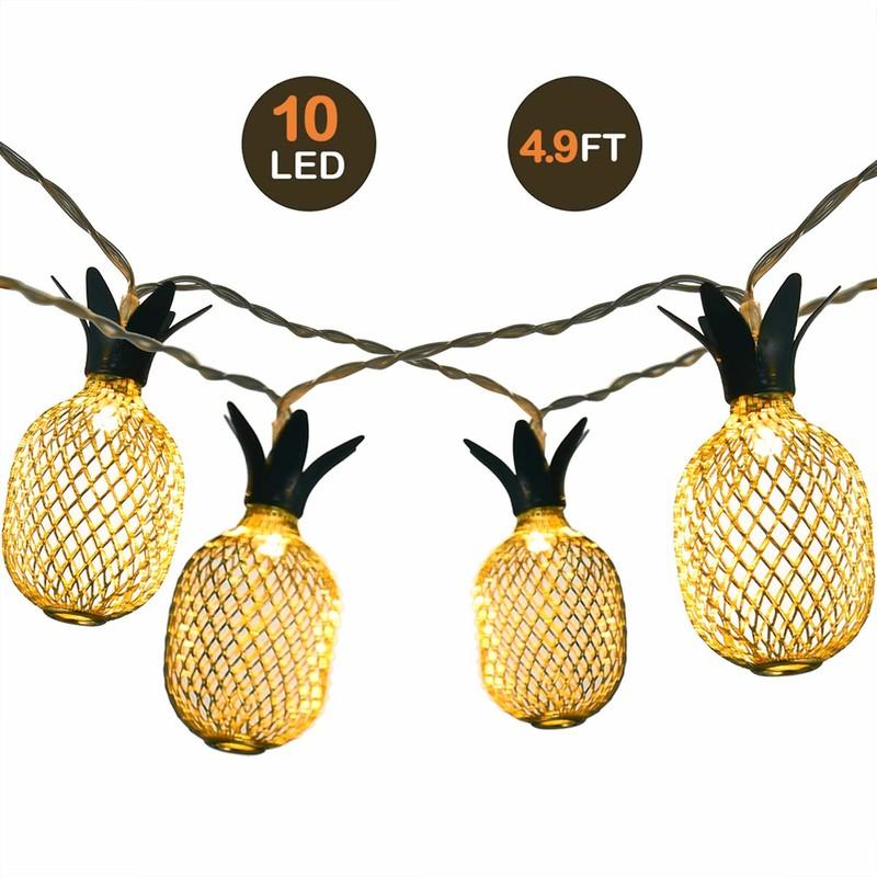 LED-ul 灯 串 10 LED-uri luminoase albastru de ananas cu lumină albă
