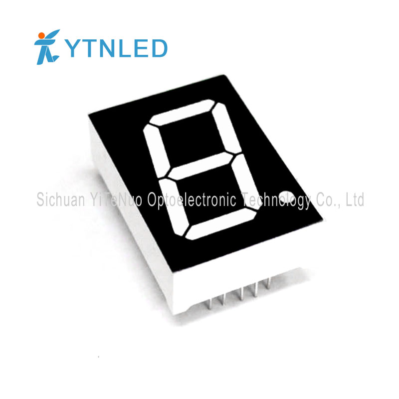 Afișaj LED de 1 inch roșu de 1 cifră 7 segmente, tub digital