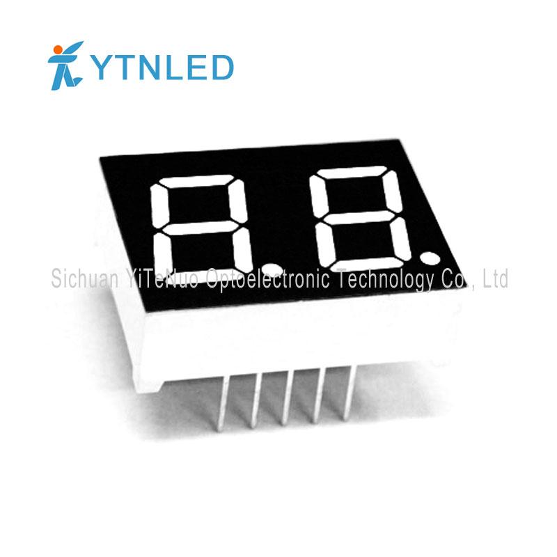 Afișaj LED cu 2 cifre de 7 inchi roșu 7 segmente, tub digital
