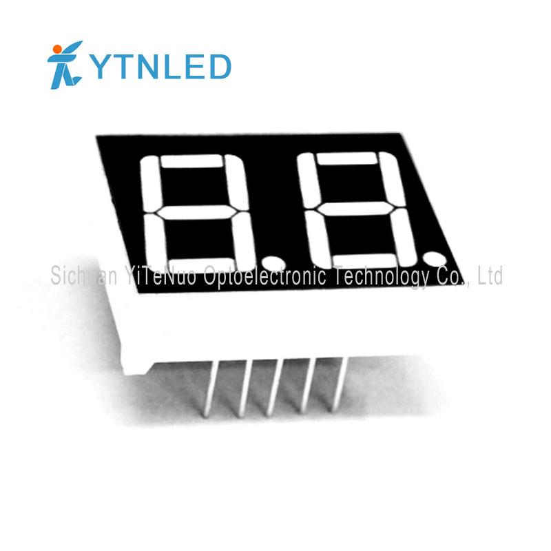 Afișaj LED de 2 cifre roșu de 7,56 inchi 7 segmente, tub digital