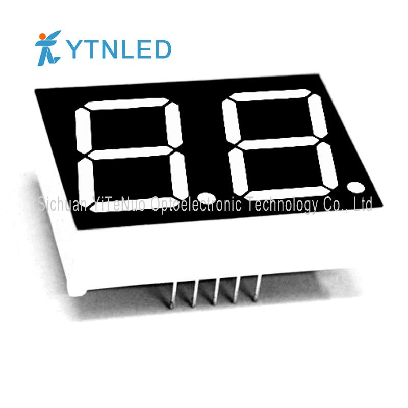 0.8 inch 2 cifre roșu 7 segmente LED display, tub digital