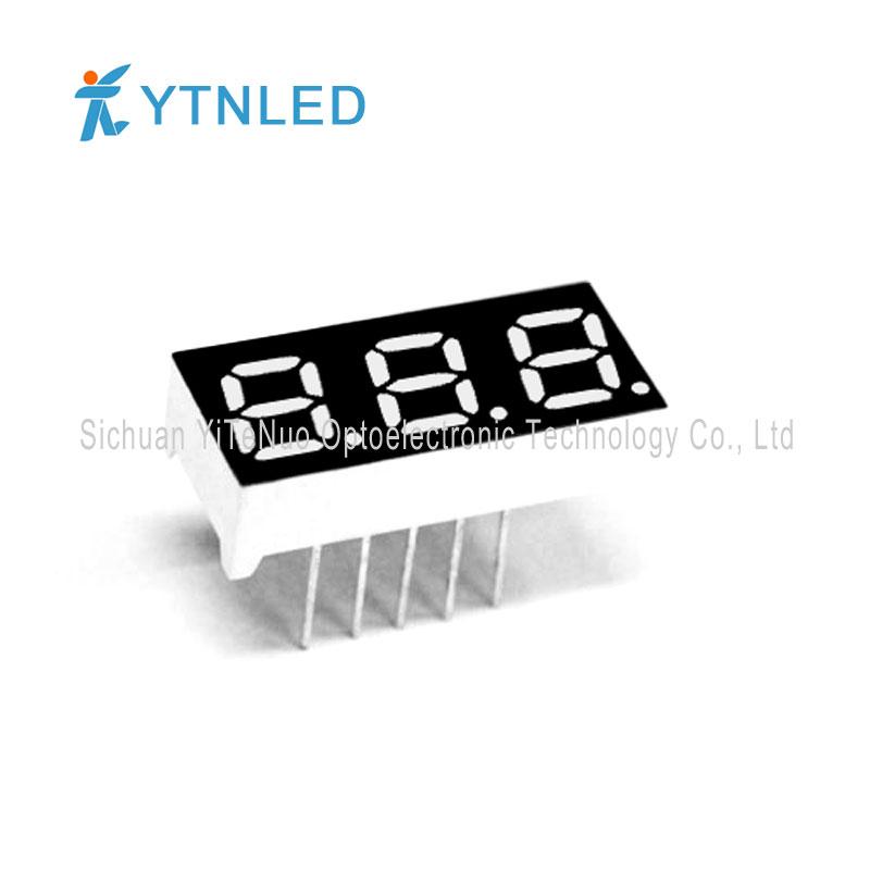 Afișaj LED de 3 cifre roșu de 0,28 inchi cu 7 cifre, tub digital