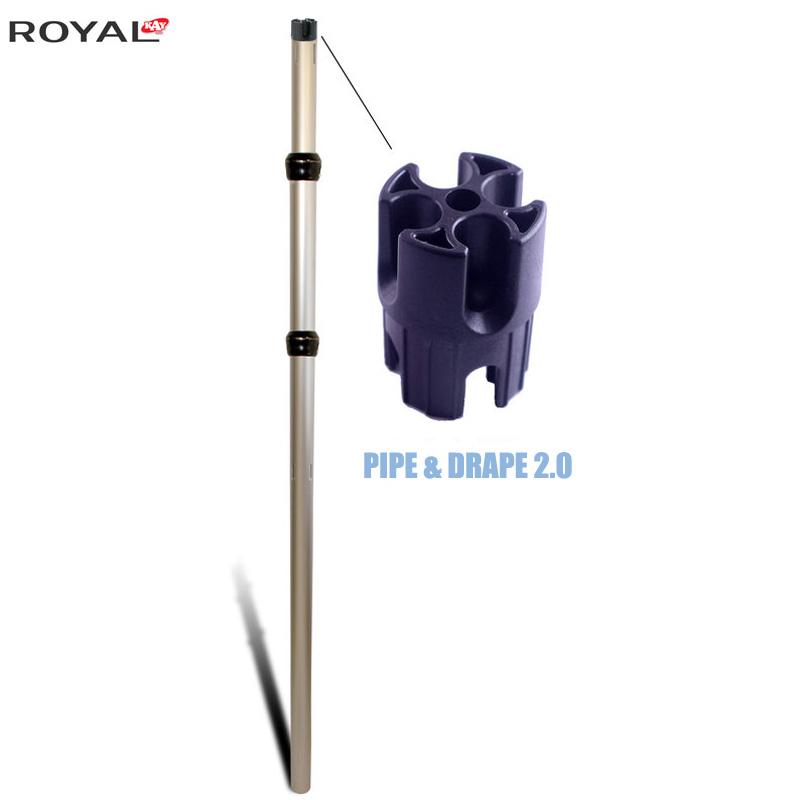 Țeavă și drap 2.0 reglabile vertical 3 bucăți