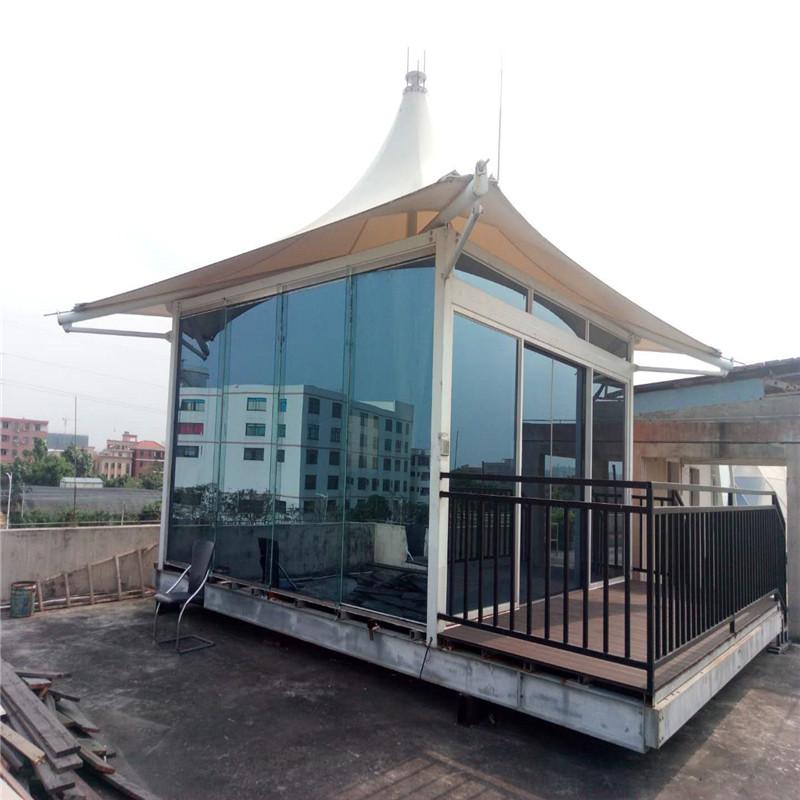 Producător prefabricat de materiale de construcție din metal perete de sticlă cort de lux