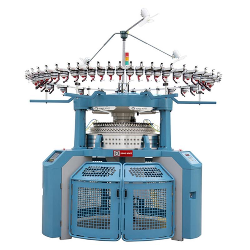 Mașină de tricotat circular pe bază computerizată