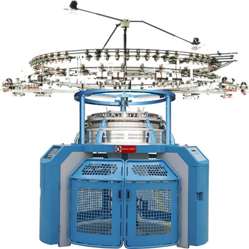 o singură maşină de tricotat circular din Jersey