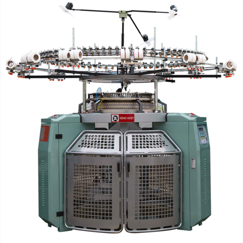 China angro de înaltă calitate full automatic single open lățime 18G-24G taiwan circular tricoting