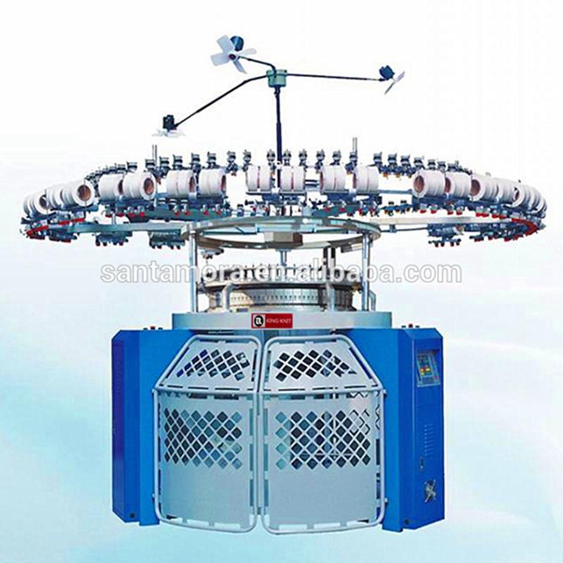 Mașină de tricotat circular cu dungi electronice