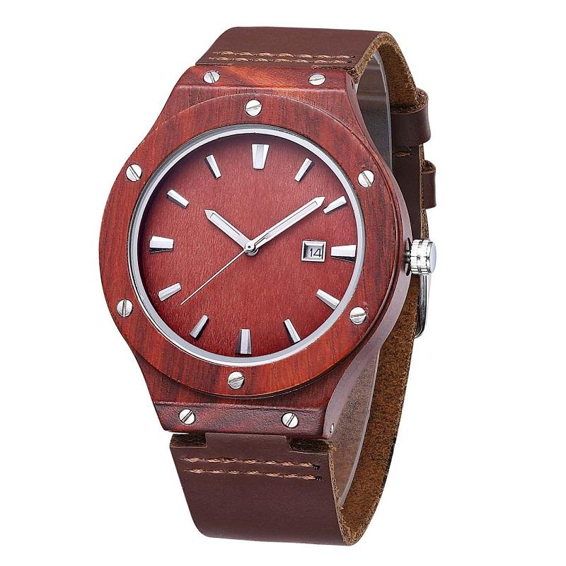 Ceas din lemn pentru încheietura mâinii și cel mai bun cuplu din piele de Valentine Valentine